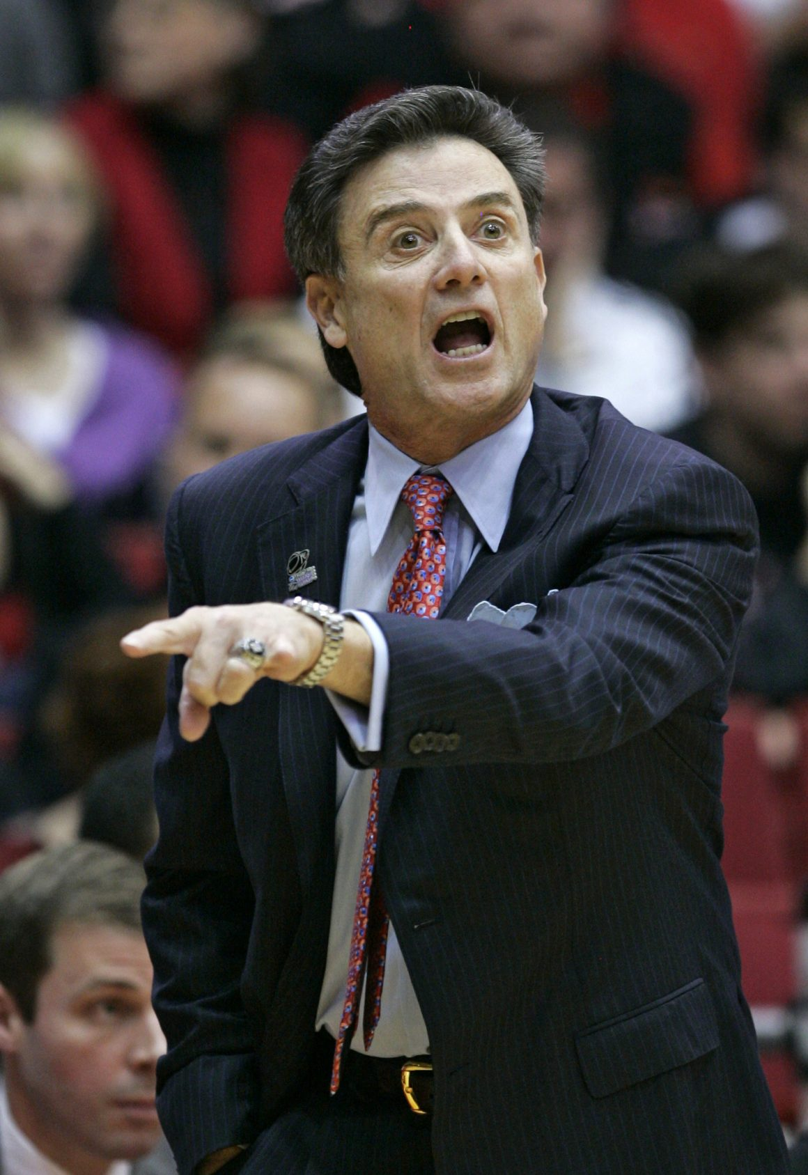 Rick Pitino shouts at his players